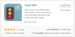 Select Yoast SEO and Install it